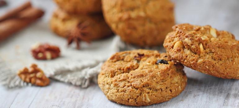 Receta de Cookies de Avena para tomar con leche vegetal